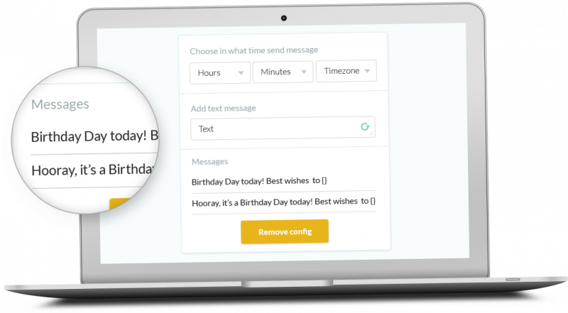 Create your celebration messages